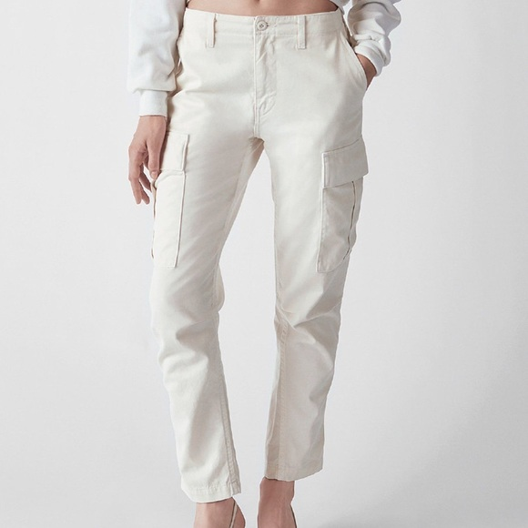re/done Pants - NWT Re/Done Original White Cargo Pants Size 31